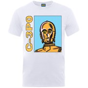 Star Wars Men's C-3PO Head T-Shirt - White