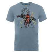 Star Wars Men's Darth Vader Distressed T-Shirt - Steel Blue