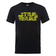 Star Wars Men's Logo Icons Montage T-Shirt - Black