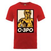 Star Wars Men's C-3PO Art Poster T-Shirt - Red