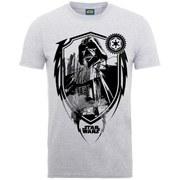 Star Wars Men's Darth Vader Shield T-Shirt - Heather Grey