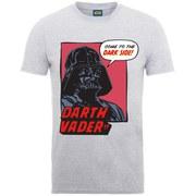 Star Wars Men's Darth Vader Dark Side T-Shirt - Heather Grey