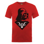 Star Wars Men's Darth Vader Simple Badge T-Shirt - Red