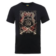 Star Wars Men's Darth Vader Cross Sabers Distressed T-Shirt - Black