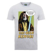 Star Wars Men's Obi-Wan Kenobi Popart T-Shirt - Heather Grey