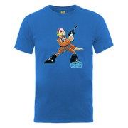 Star Wars Men's Luke Skywalker Pilot Character T-Shirt - Royal