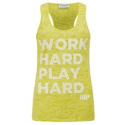 Camiseta Burnout sin Mangas - Mujer - Color Amarillo