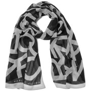Marc by Marc Jacobs Women's Woven Bold Logo Scarf - Black/Multi