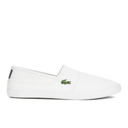Lacoste Men's Marice LCR Canvas Slip On Trainers - White