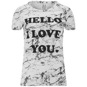 Zoe Karssen Women's Hello I Love You T-Shirt - White