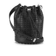 Alexander Wang Women's Alpha Soft Bucket Soft Woven Leather Bag - Black