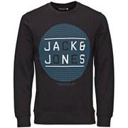 Jack & Jones Men's NOOS Speed Crew Neck Sweatshirt - Black