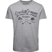 Jack & Jones Men's NOOS Raffa T-Shirt 2 - Light Grey Melange