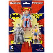 NJCroce DC Comics Justice League Trinity Bendable 3-Pack Mini Figure