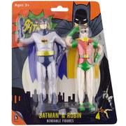 NJCroce DC Comics Batman Classic TV Series Batman and Robin 6 Inch Action Figure (2-Pack)