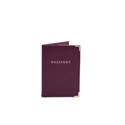 Aspinal of London Passport Cover - Burgundy