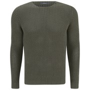 Replay Men's Loose Knitted Jumper - Military Green