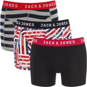 Jack & Jones Men's Over 3 Pack Boxers - Multi