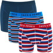 Jack & Jones Men's Yarndyed Mix 3-Pack Boxers - Chinese Red/Blue Wing Teal/Navy Blazer