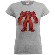Marvel Women's Avengers Age of Ultron Hulkbuster X-Ray T-Shirt - Heather Grey