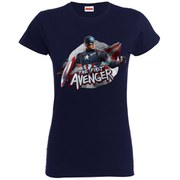 Marvel Women's Avengers Age of Ultron Captain America The First Avenger T-Shirt - Navy
