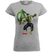 Marvel Women's Avengers Age of Ultron Hulk T-Shirt - Heather Grey