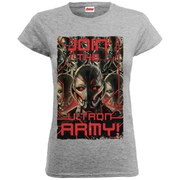 Marvel Women's Avengers Age of Ultron Join The Army T-Shirt - Heather Grey