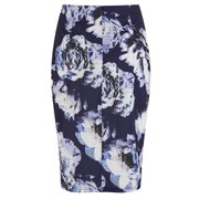 Finders Keepers Women's Stand Still Pencil Skirt - Dark Floral