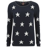 Maison Scotch Women's Star Print Crew Neck Jumper - Multi