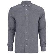 YMC Men's Heavy Cotton Long Sleeve Shirt - Cream