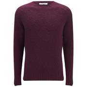 YMC Men's Geelong Brushed Wool Knitted Jumper - Exclusive to Coggles - Bordeaux