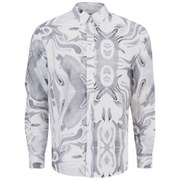Soulland Men's Sine Printed Long Sleeve Oxford Shirt - Multi
