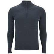 John Smedley Men's Hugh Quarter Zip Merino Knitted Jumper - Charcoal