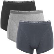 Bjorn Borg Men's Triple Pack Boxer Shorts - Ombre Blue