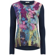 Paul by Paul Smith Women's Floral Front Long Sleeve T-Shirt - Multi