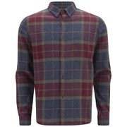 A.P.C. Men's Button Down Checked Long Sleeve Shirt - Red