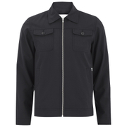 Wood Wood Men's Charles Zipped Jacket - Navy