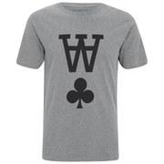 Wood Wood Men's AA Printed Crew Neck T-Shirt - Grey Melange