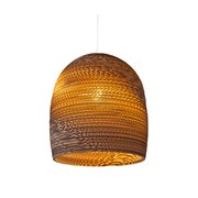 Graypants Bell Pendant Lamp 10 Inch - Brown