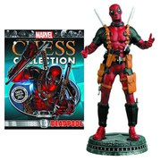 Marvel Deadpool White Pawn Chess Piece with Collector Magazine