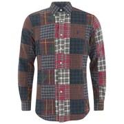 Polo Ralph Lauren Men's Patchwork Long Sleeve Shirt - Brownstone