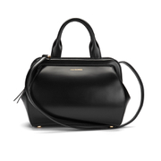 Lulu Guinness Women's Paula Mid Polished Calf Leather Tote Bag - Black
