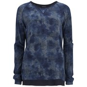 Maison Scotch Women's Delicate All Over Printed Long Sleeve Top - Blue