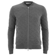 J.Lindeberg Men's Randall Quilted Zipped Cardigan - Grey