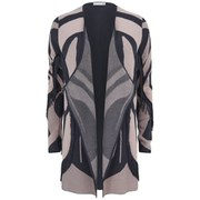 SuperTrash Women's Cristy Drape Cardigan - Granite
