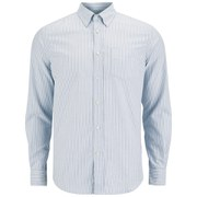 Tripl Stitched Men's Candy Stripe Long Sleeve Shirt - Sky