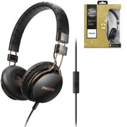 Philips SHL5505 Citiscape Foldie Headphones (Includes Mic) - Black