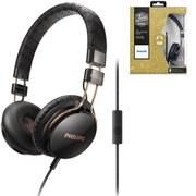 Philips SHL5505 Citiscape Foldie Headphones (Includes Mic) - Black