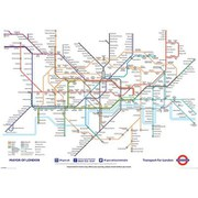 London Underground Map - 40 x 55 Inches Giant Poster