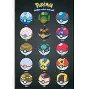 Pokemon Pokeballs - 24 x 36 Inches Maxi Poster